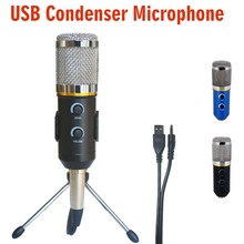 MK-F200TL Professional Microphone USB Condenser Microphone for Video Recording Karaoke Radio Studio Microphone for PC Computer(China (Mainland))