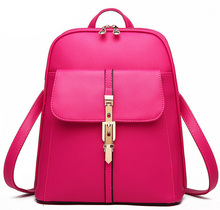 Charm in hands High Quality Women Backpacks Famous Brands Fashion Lady Leather Backpack School Backpacks For Teenage Girls C0087(China (Mainland))