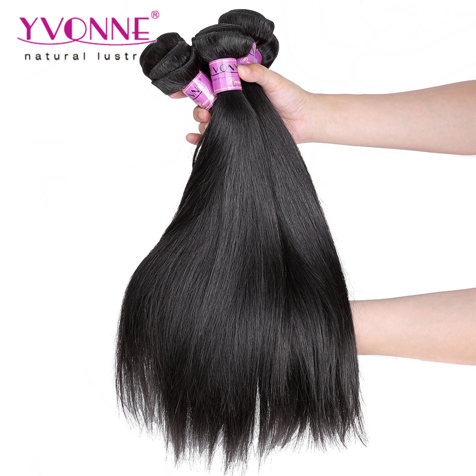 3Pcs/lot Peruvian Virgin Hair Straight,100% Remy Human Hair Extension,Natural Color,12~28 Inches Aliexpress Yvonne Hair(China (Mainland))