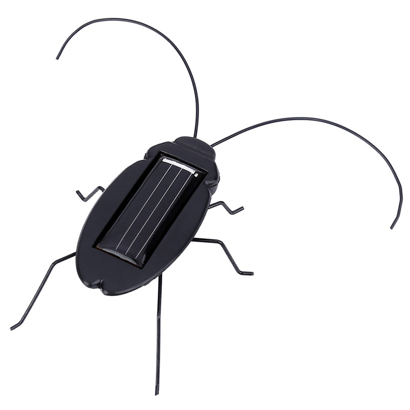 Solar Toy Solar Powered Toy Cockroach 6 Legs Insect Bug Black Juguetes Solares Brinquedo Learning Educational For Children Gifts(China (Mainland))
