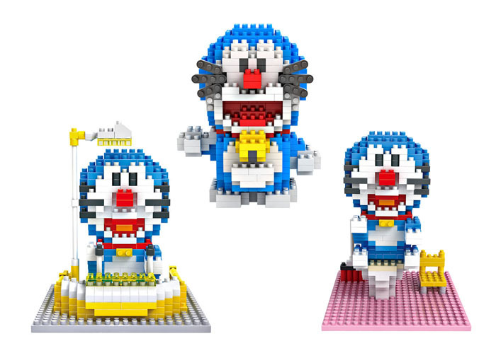 2015 NEW Doraemon Toys Limited Collection Toys Blocks LOZ building blocks Action Toy Figures Anime Time Machine Lovely Gift(China (Mainland))