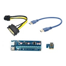 30cm/60cm USB 3.0 PCI-E Express 1x to 16x Extender Riser Card Adapter for Graphics Video sound card for Bitcoin Litecoin(China (Mainland))
