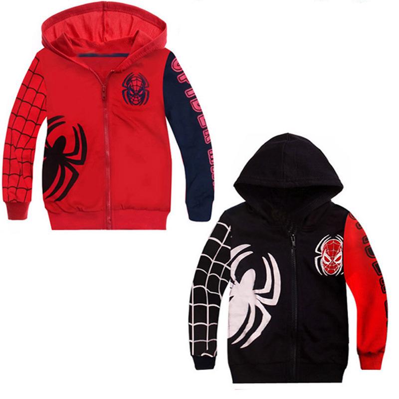 2015 Wholesale Spring Autumn Children Coat boy Spiderman embroidered hooded jackets Kid cartoon Clothes children sweater Outwear<br><br>Aliexpress