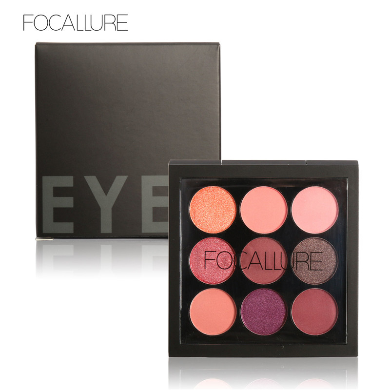 FOCALLURE 9 Colors Makeup Eyeshadow Palette Makeup Eyeshadow Palette Matte&Shimmer Smoky Eye Shadow Palette(China (Mainland))