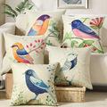 Bird prined Cotton Linen Sofa Cushion 45x45cm 17 7x17 7 Throw Decorative Pillow Home Birthday wedding
