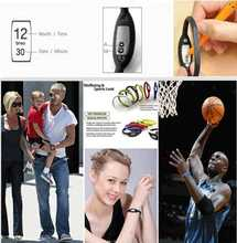 Retail wholesale Hot Arrival anion silicone waterproof sports digital wrist watch gift for fashion men women