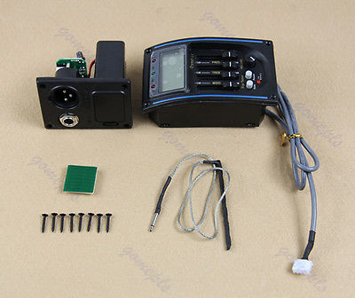 """M112""""LC 4 Bands Acoustic Guitar Preamp EQ Pickup Tuner Piezo(China (Mainland))"""