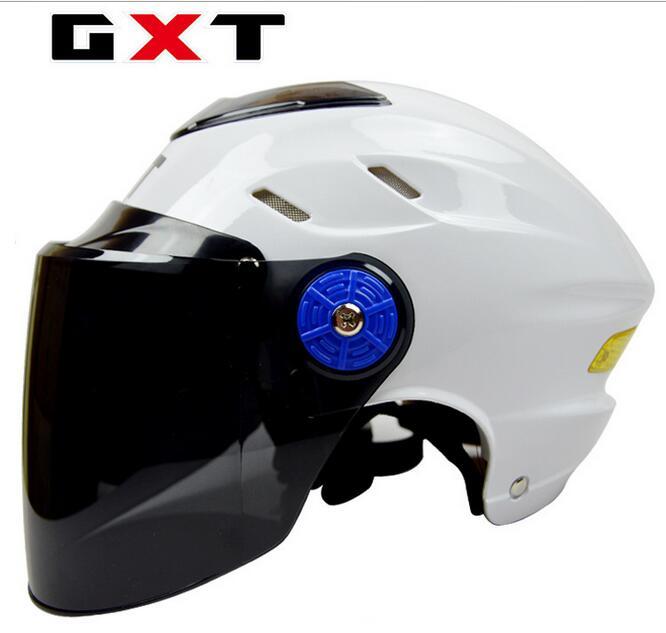 So cheap Motorcycle helmet summer use easy to wear half helmet battery-operated motor cycle helmet(China (Mainland))
