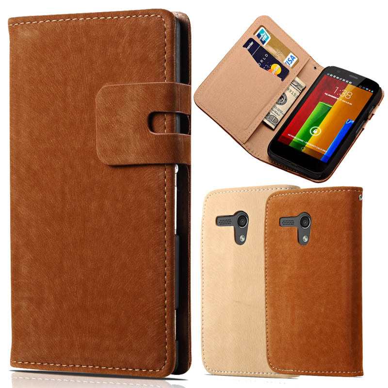 Soft Feel Wallet PU Leather Case for Motorola Moto G XT1028/XT1031/XT1032 Phone Bag Luxury Flip Cover With Stand and Card Holder(China (Mainland))