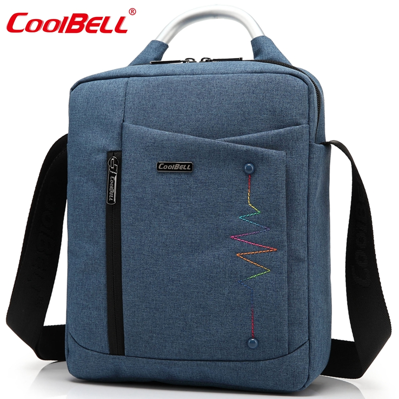 CoolBell Brand Casual Fashion Bag for iPad Air 2 3 iPad Mini iPad 4 Men Women Tablet Bag 8,10.6,12.4 inch Laptop Messenger Bag(China (Mainland))