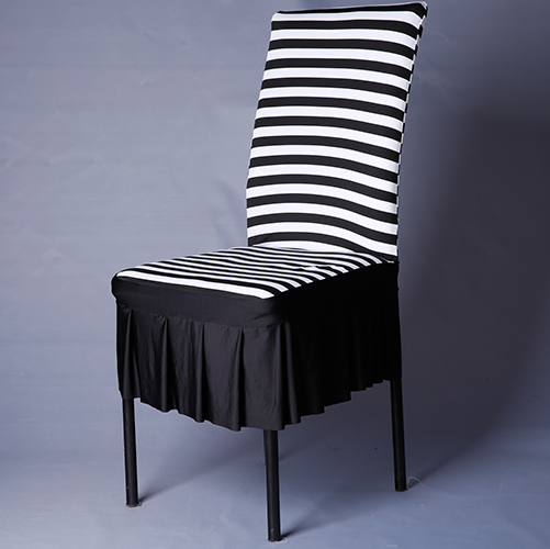 Hot selling Polyester Stripe chair cover super elastic chair cap covers plus size banquet chair cover copri sedie for home use(China (Mainland))