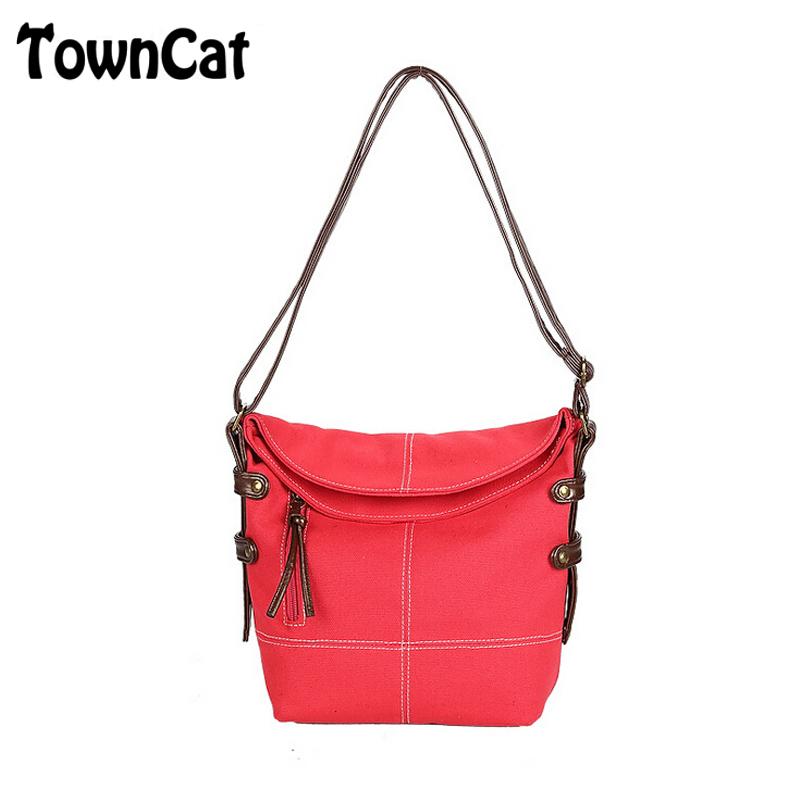 Casual Women's Men's Zipper Hobo Bag Canvas Durable Cross Body Shoulder Messenger Bag Weekend Travel Handbag Daypack(China (Mainland))