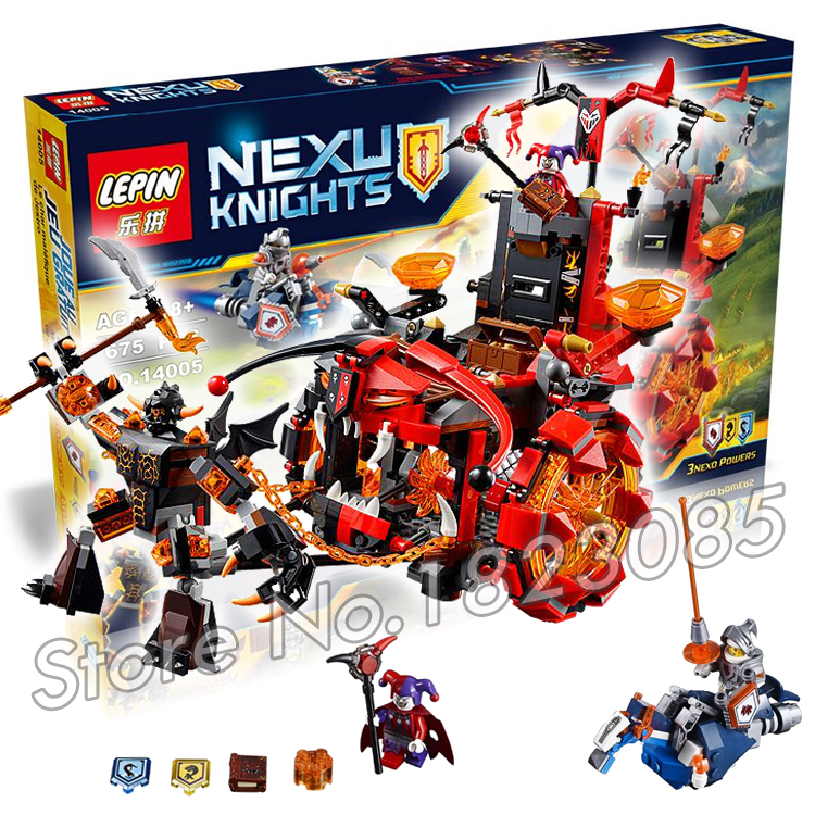 675pcs 2016 New NEXO Combination Knights Jestros Evil Mobile Mixed model building blocks minifigures toys Compatible With Lego<br><br>Aliexpress
