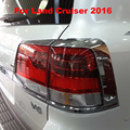 2016 Chrome Tail Light Lamp Cover For Toyota Land Cruiser V8 LC 200 Accessories
