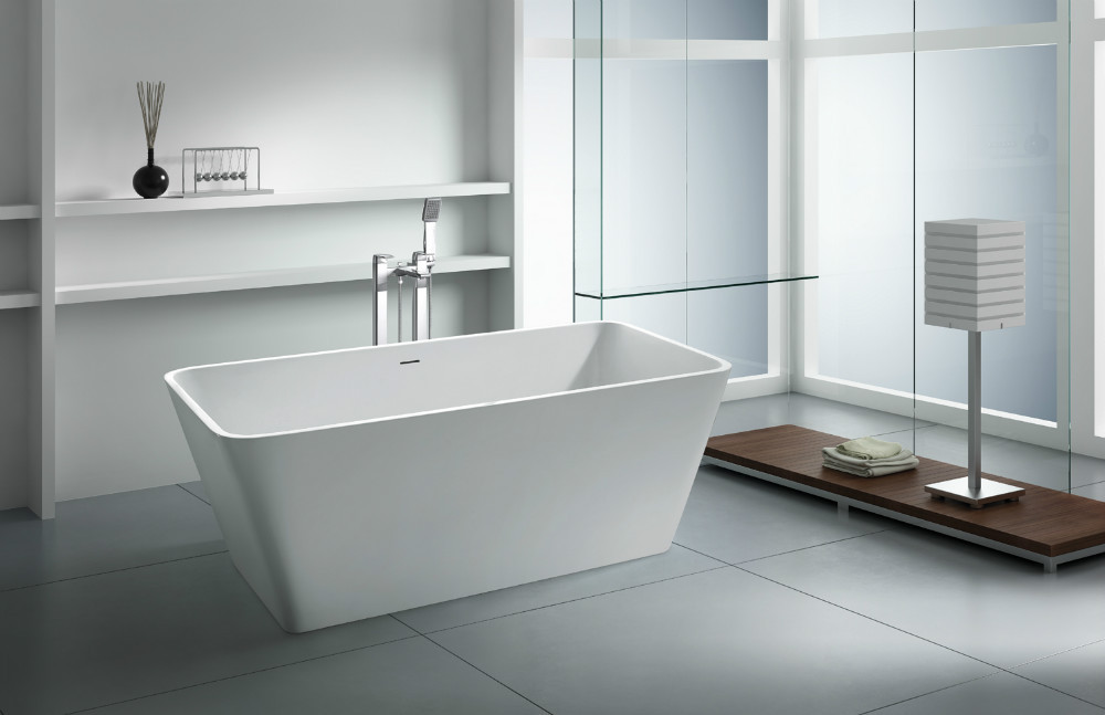 Freestanding bathtub artificial stone bathtub resin ston for Freestanding stone resin bathtubs