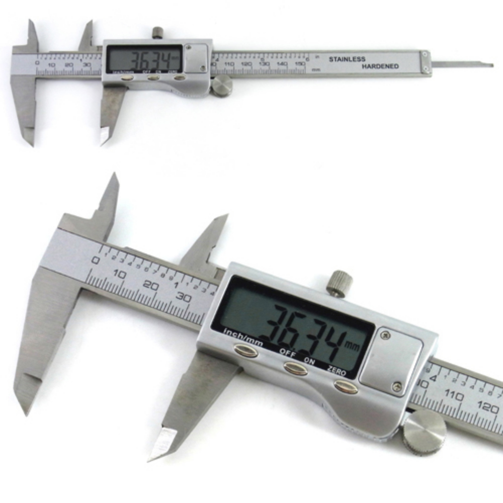 """Гаджет  6"""" 150 mm Digital Vernier Caliper Micrometer Guage Widescreen Electronic Accurate Measuring Tool Stainless Steel None Инструменты"""