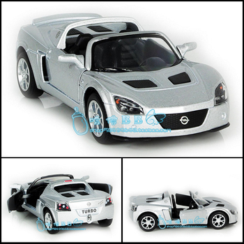 New Opel 2003 Speedster Turbo 1:32 Alloy Diecast Model Car Silver Toy collection B195d