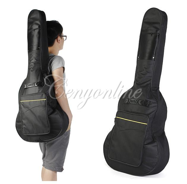 Free Shipping Classic Soft Acoustic Guitar Bass Case Bag Holder With Double Padded Straps 40 41 Inch Convenient Music Fan(China (Mainland))