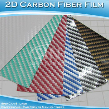 "24""x50"" 60x127CM Glossy 2D Carbon Fiber Vinyl Film/Carbon Fiber Sticker Wrapping My Car"