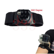 Gopro Wrist Strap Rotary 360 degrees Hand Wrist Strap Mount With Turn Lock For GoPro Hero 4 3+/3 sj4000/5000 Camera Accessories