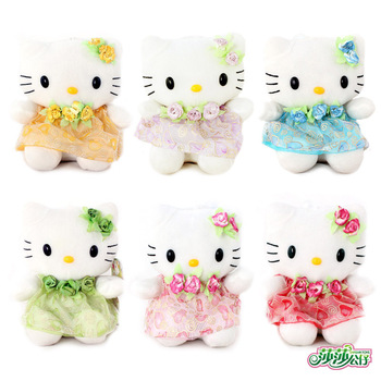 Valentine day gift plush toy kitty HELLO KITTY jushi small hanging doll