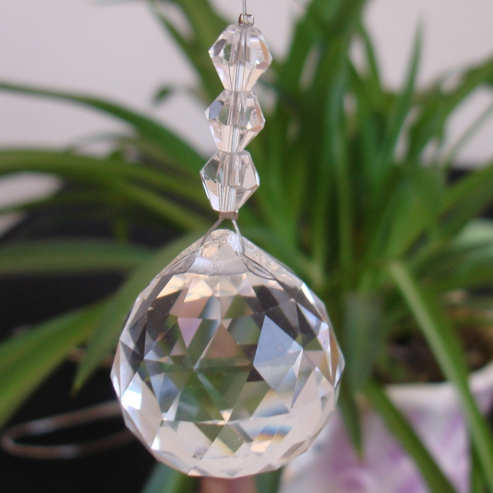 1PCS/lot,60mm crystal glass faceted prism ball,crystal chandelier ball parts for wedding& fengshui products ,X-MAS decoration(China (Mainland))