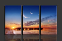 3 Panels Sun Beach HD Canvas Print Painting Artwork Modern Home Wall Decor painting Canvas Art HD Picture Paint on Canvas Prints(China (Mainland))