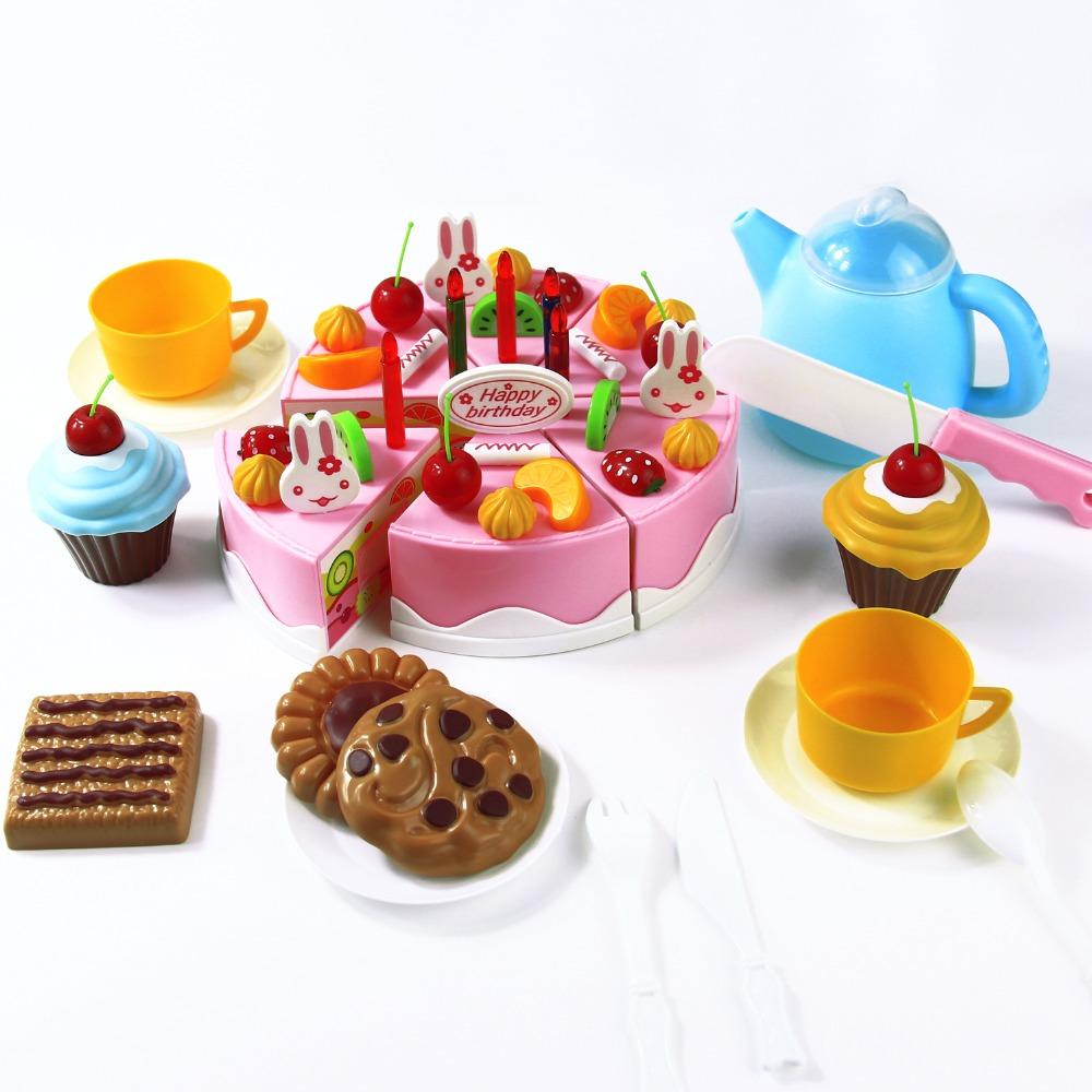 Play Food Toys : Aliexpress buy pcs diy cutting birthday cake