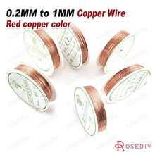 (22078)1 Roll 0.2MM to 1MM Copper Color Metal Copper Wire Very Strong Can Make Shape Diy Jewelry Making Findings Accessories(China (Mainland))