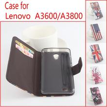 Painted Fashion Lenovo A3600 A3800D case Good Quality Leather Case Back cover For Lenovo A3800D A3600 phone case With wallet