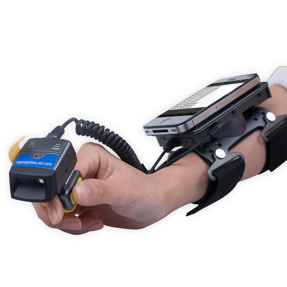 Generalscan GS WT1500 2D Imager Stardard Power Adapter Wearable Armband Barcode Terminal Android Device Inventory