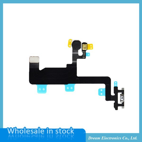 10pcs/lot New Switch On Off Power Button Control Sensor Flex Cable for iPhone 6 6G 4.7″ Replacement parts free shipping