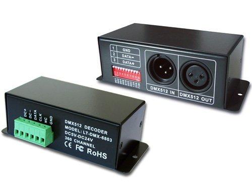 LT-DMX-1809 DMX Decoder;support TM1803,TM1804,TM1809,TM1812 data protocol