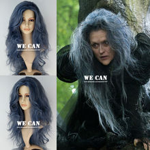 New Movie Into the Woods Witch (Meryl Streep) Synthetic Long Wavy Tousle Anime Movie Cosplay Wig(China (Mainland))