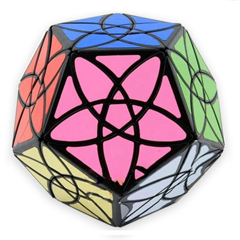 Brand New MF8 Bauhinia Dodecahedron Megaminx Speed Magic Cube Puzzle Educational Toys For Children Kids - Black