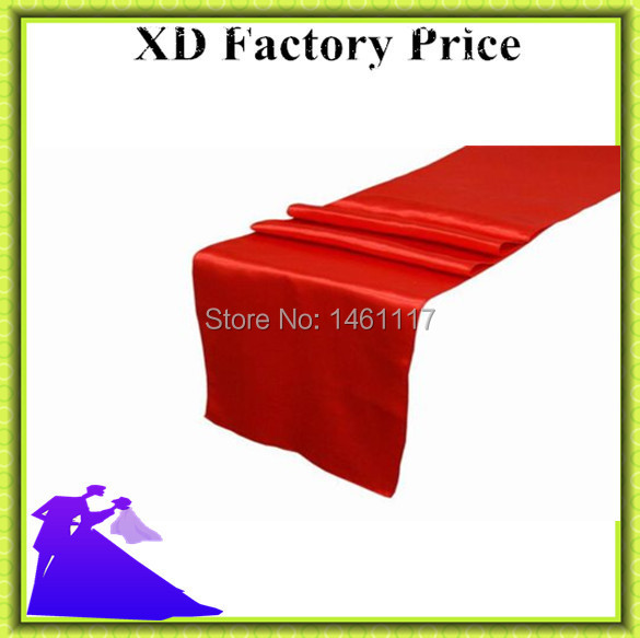 2015 free shipping new arrival wholesale price satin table runner for event(China (Mainland))
