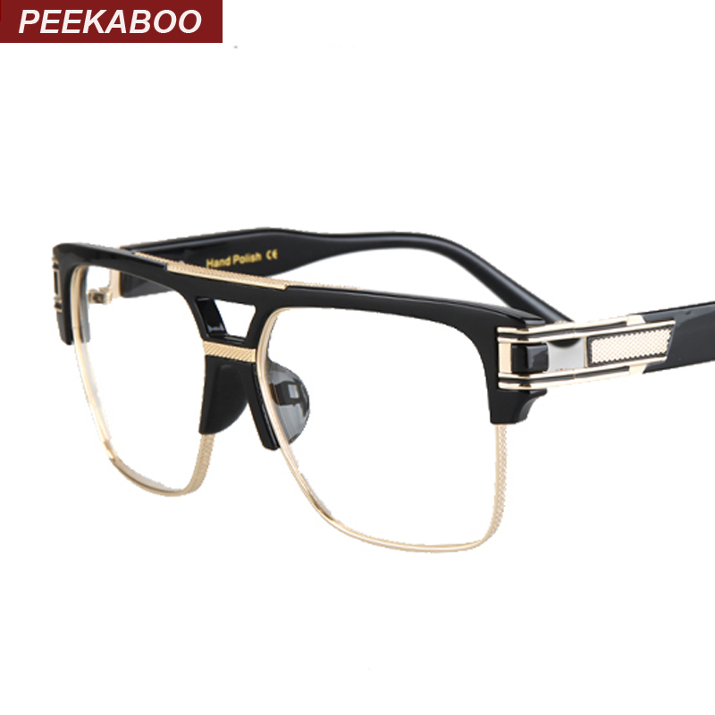 wholesale 2016 mens spectacle frame optical brand black ...
