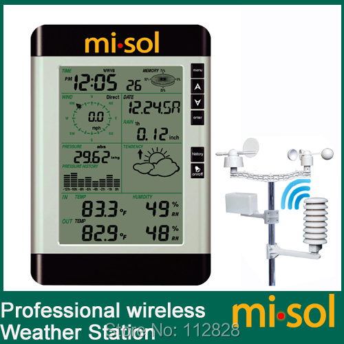 misol / Pro Wireless Weather Station with PC connection, wind speed, weather forecast(China (Mainland))