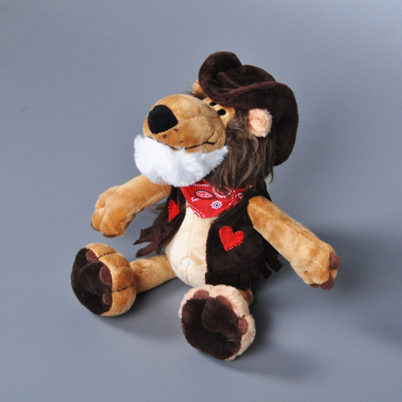 NICI stuffed Toy Cowboy Lion plush toy pet shop cartoon Animal stuffed doll Movies &amp; TV juguetes Birthday Gift funny 10pcs/lot<br><br>Aliexpress