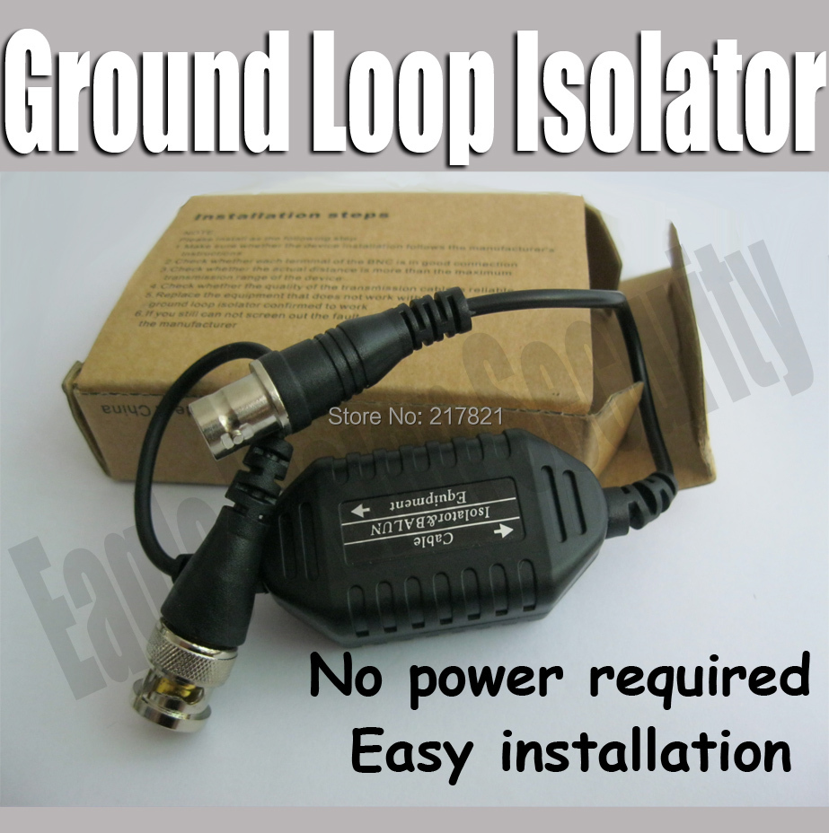 Coaxial Video Ground Loop Isolator Built in Video Balun BNC Video CCTV System(China (Mainland))