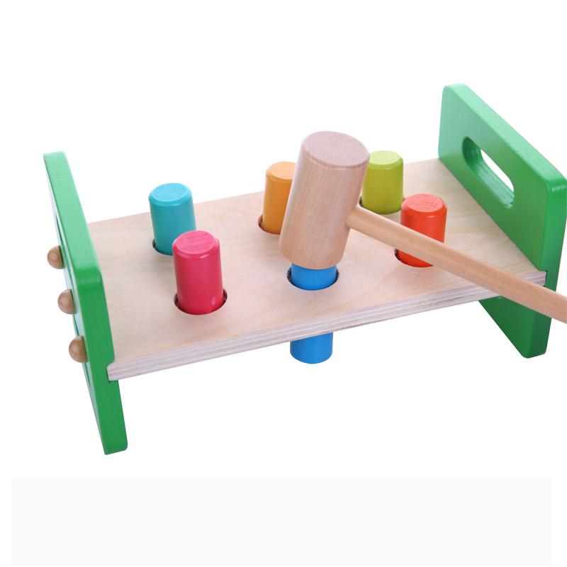 Educational Toys Brands : New baby toys wooden knocks pillar platform wood