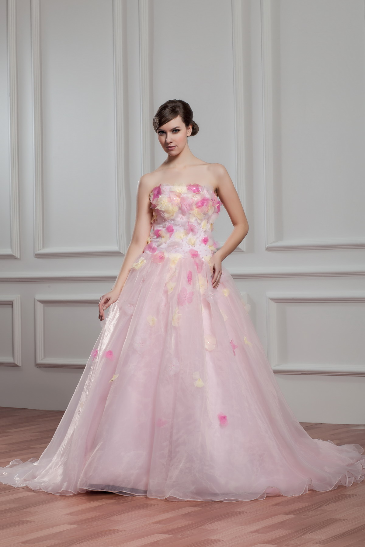 Pink Plus Size Wedding Dresses