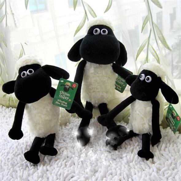 Hot Sale Shaun The Sheep Stuffed Animal Plush Toys Doll for Girls Cute Baby Kids Birthday Gift 25cm Brinquedos Juguetes(China (Mainland))