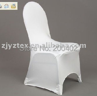 sales promotion free shipping good quality thick white banquet spandex chair cover/lycra chair cover for weddings