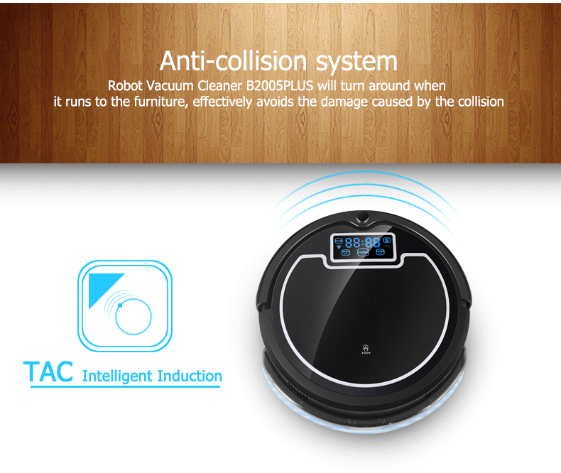 Vacuum Cleaning Robot,with Water Tank,Wet and Dry Mop,2 Brush,TouchScreen,with Tone,HEPA,Schedule,VirtualWall,SelfCharge,UV Lamp(China (Mainland))