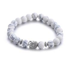 קלאסי טבעי אבן בודהה קסם צמיד לנשים שיק כסף צבע פיל חרוזים צמידי אופנה גברים תכשיטים(China)
