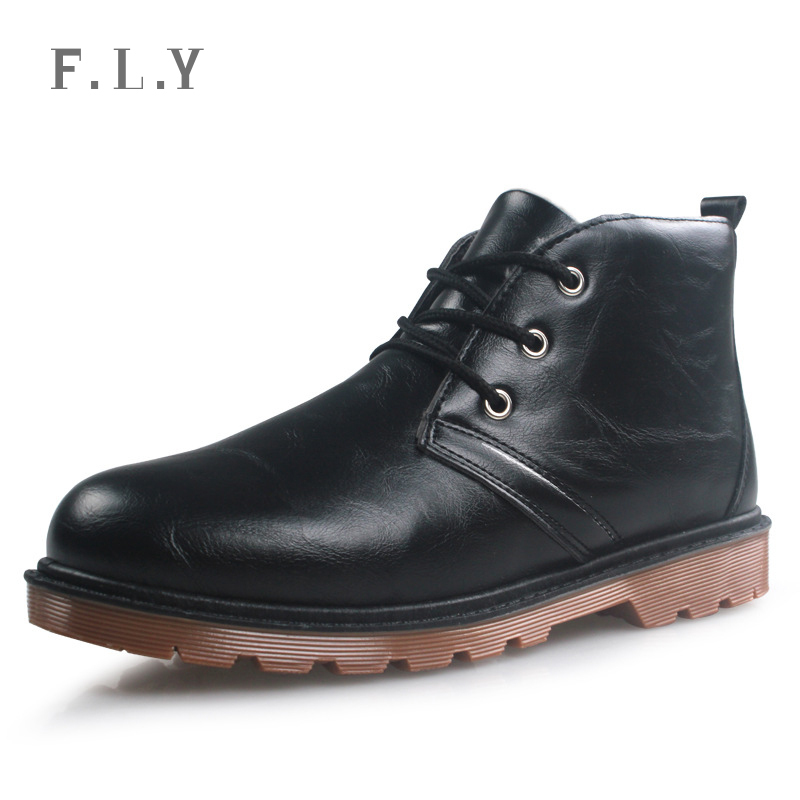 Autumn Winter Tend male Boots Retro Lace-up Martin men boots Plus velvet shoes Warm cotton Botas size PB0002 - NO.1 store