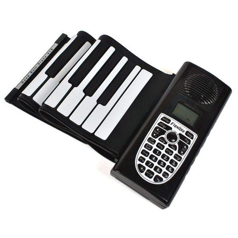 New Roll up keyboard piano Musical Instrument silicone 61 ...