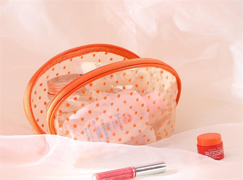 2016 New Hot Sale Transparent Three Layers waterproof PVC Spot Shell Type Bag Women Cosmetics Bags HBG32 (5)