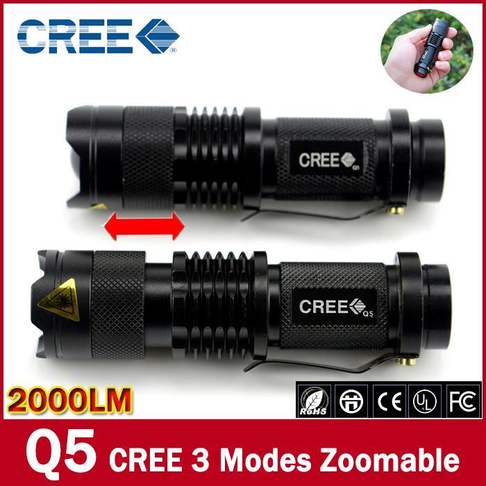 mini LED Flashlight lantern Torch light mini LED Flashlight Strong 2000 Lumens Zoomable Penlight Lanterna(China (Mainland))